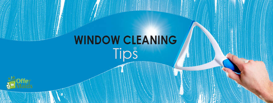 professional window cleaning tips blue back ground