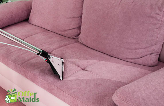 Sofa cleaning service in Dubai using steam cleaner
